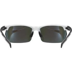 UVEX Sportstyle 114 Glasses, white/black matt/mirror blue